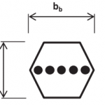 cinghie esagonali schema